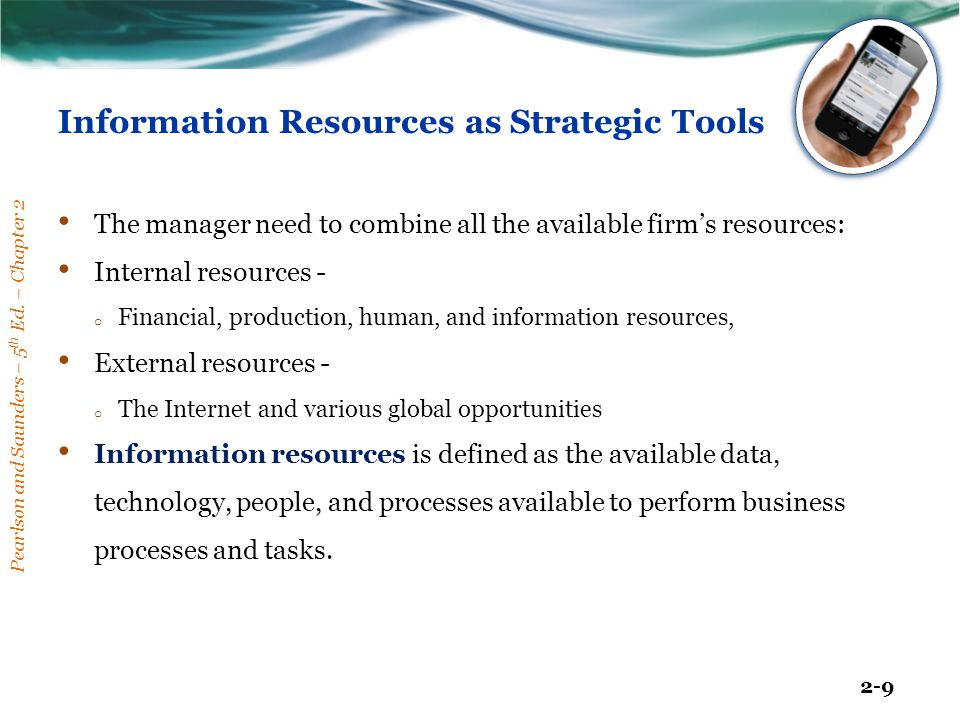 Information Resources as Strategic Tools