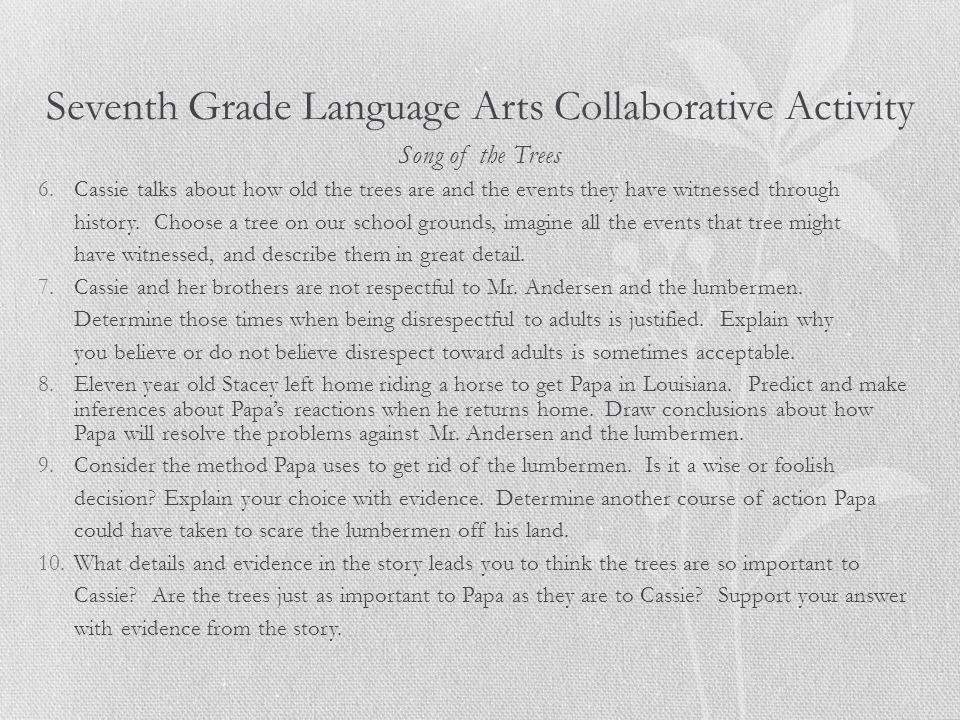 Seventh Grade Language Arts Collaborative Activity