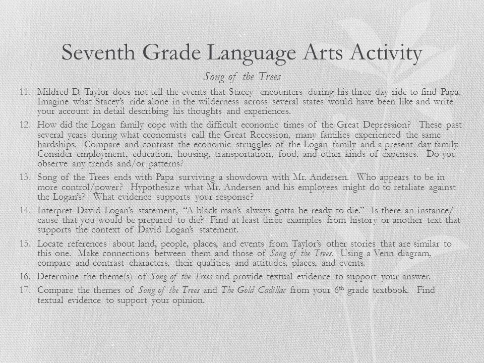 Seventh Grade Language Arts Activity