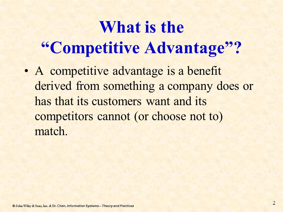 What is the Competitive Advantage