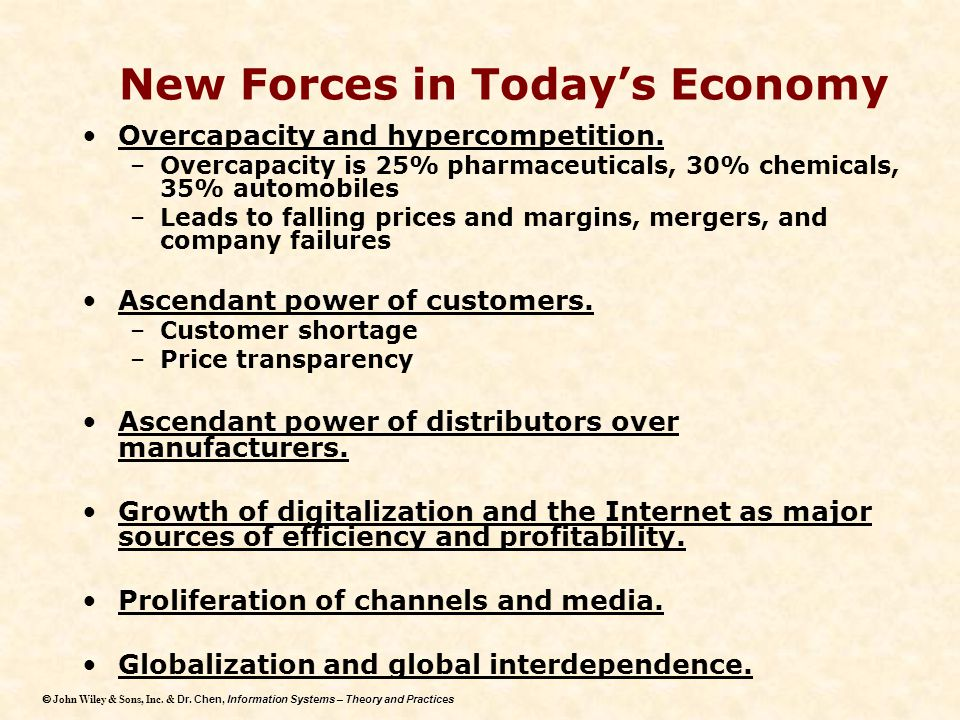 New Forces in Today's Economy