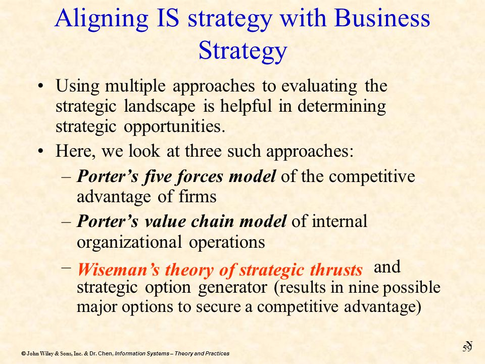 Aligning IS strategy with Business Strategy