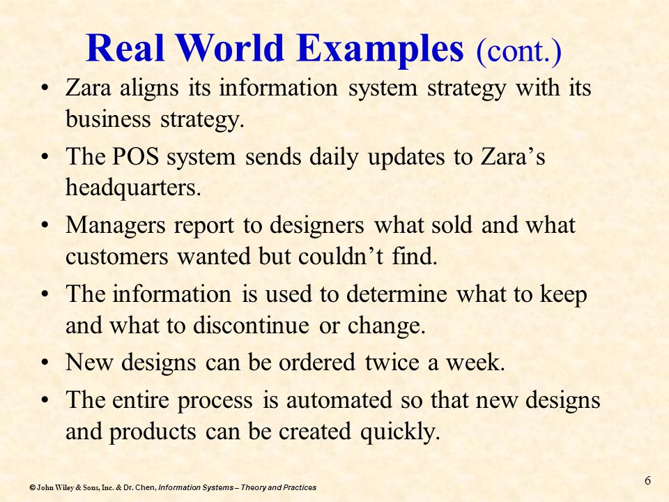 Real World Examples (cont.)