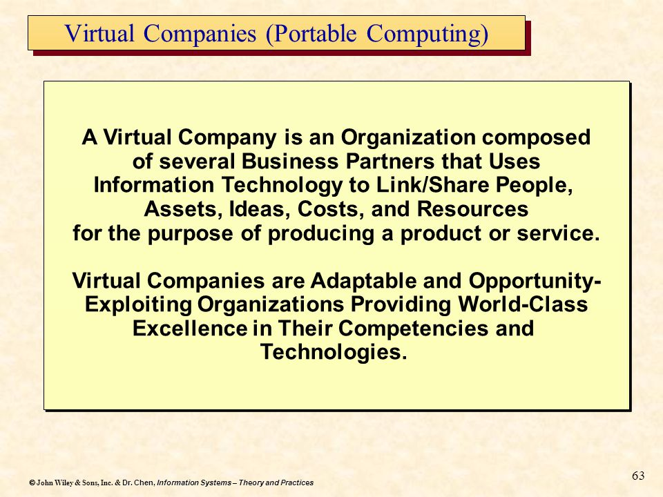 Virtual Companies (Portable Computing)