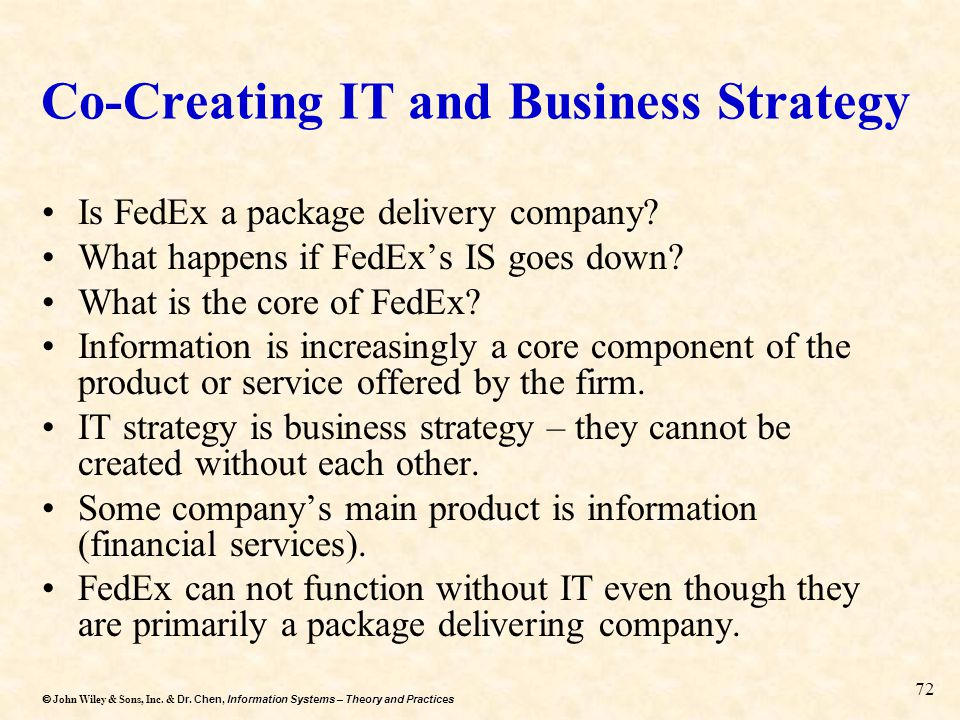 Co-Creating IT and Business Strategy