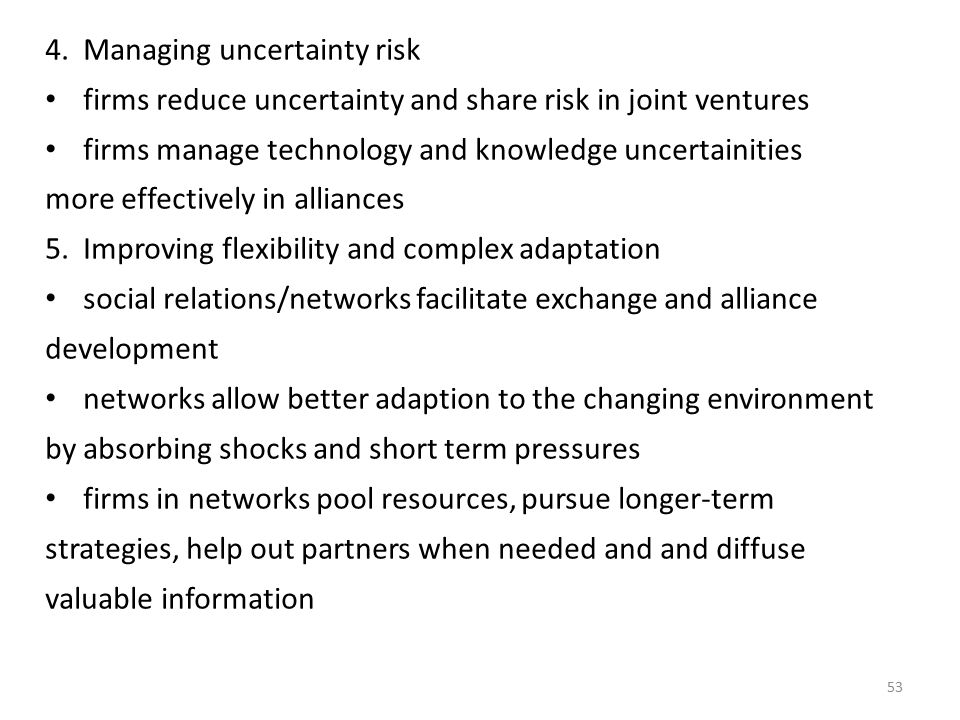 Managing uncertainty risk