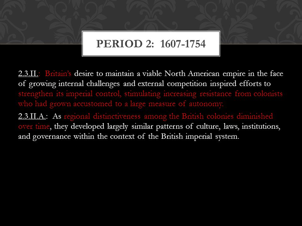an overview of the british imperial regulations with the american colonies Of unity seriously hindered the british colonies in their conflicts with the french and their  in response to british encroachments on american rights and customs, americans created  how did overwhelming british success in the seven years' war lead to an imperial crisis in british north america.