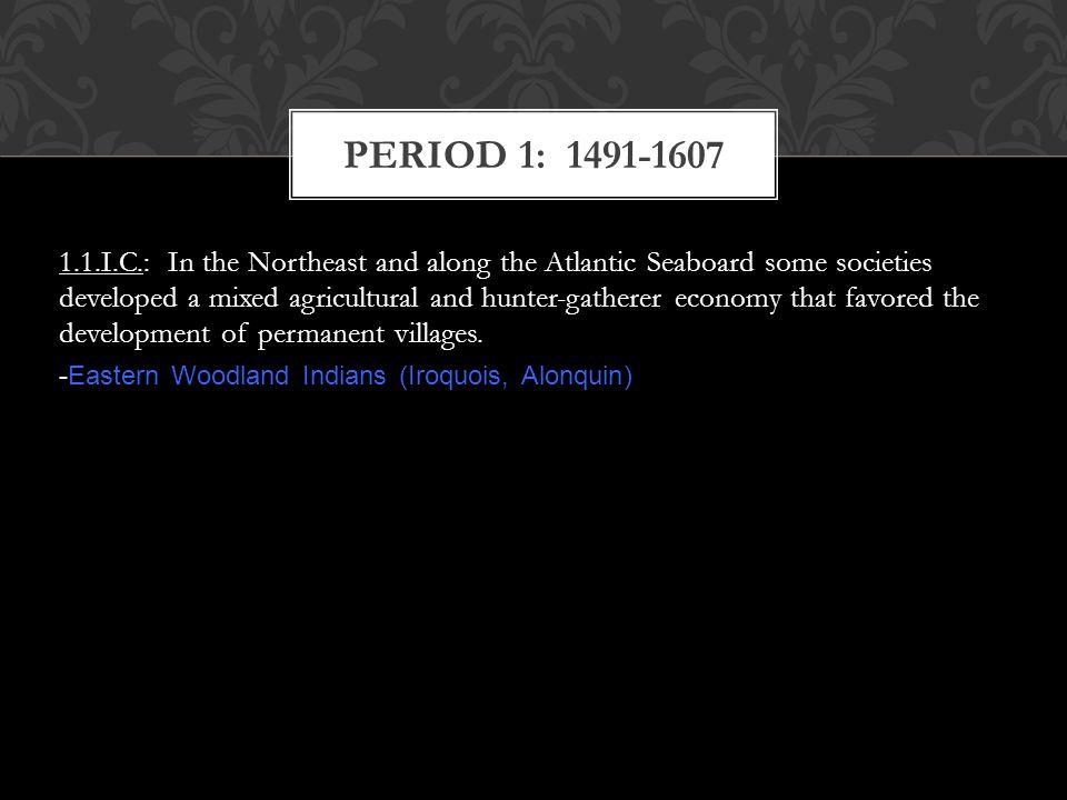 PERIOD 1: 1491-1607