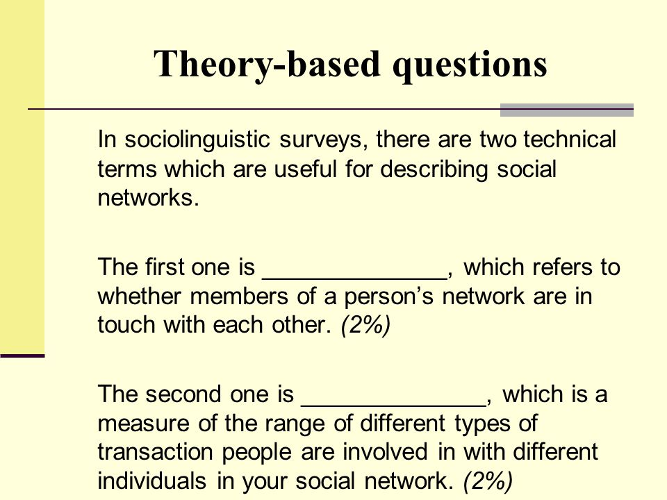 Theory-based questions