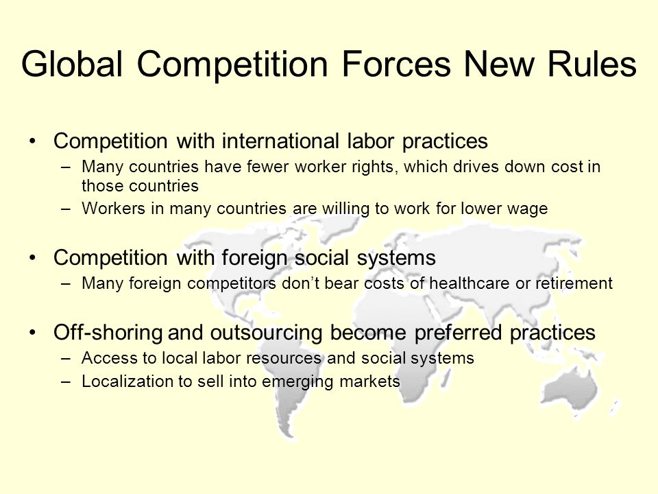 Global Competition Forces New Rules