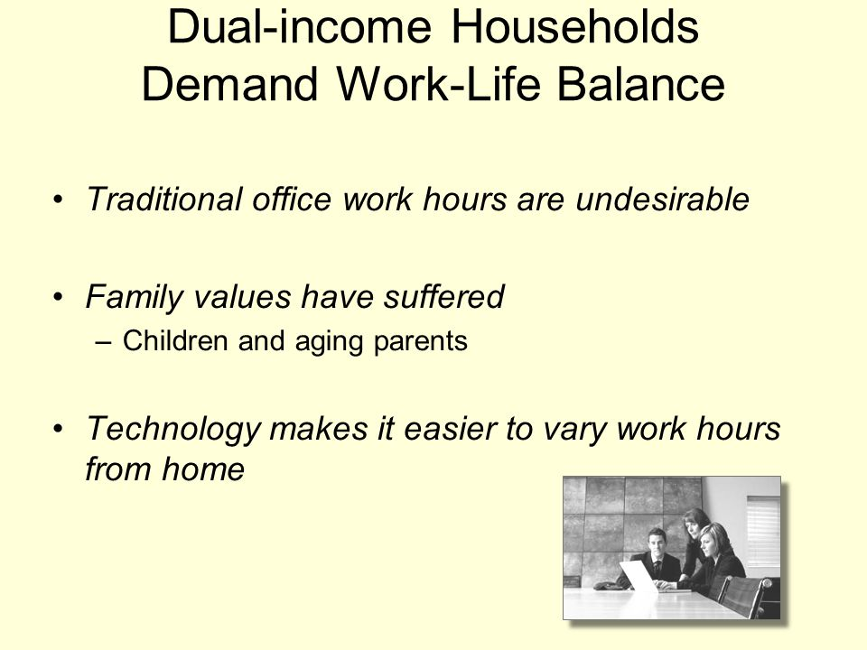 Dual-income Households Demand Work-Life Balance