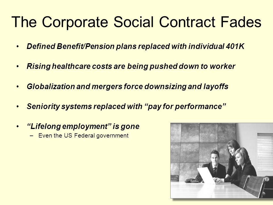 The Corporate Social Contract Fades