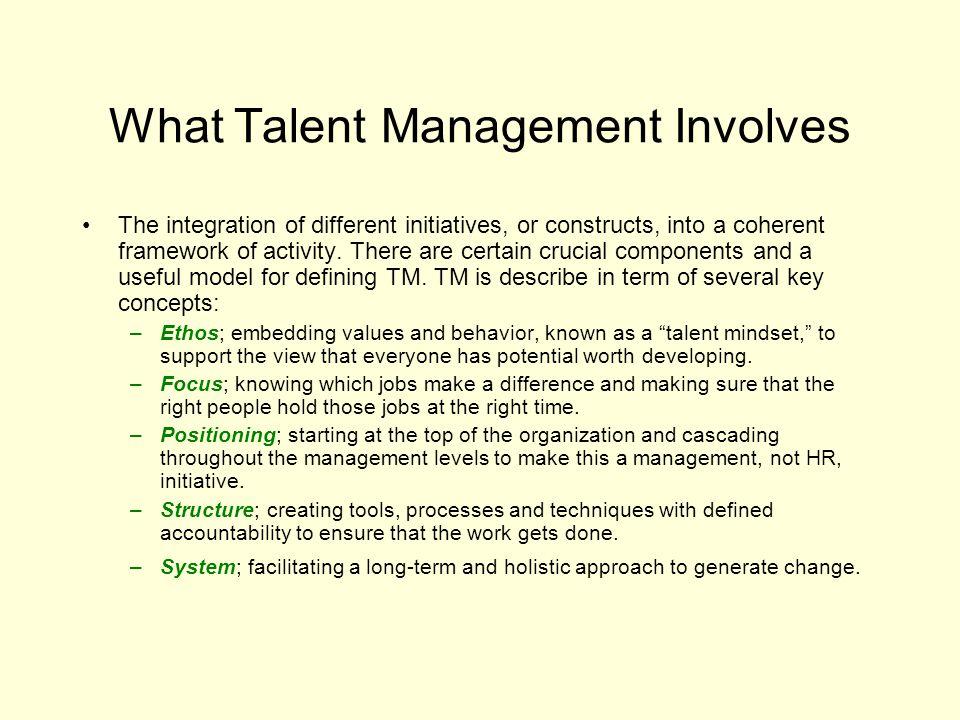 What Talent Management Involves