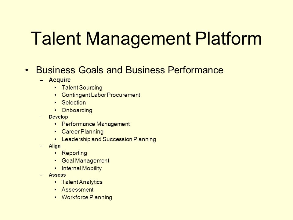 Talent Management Platform