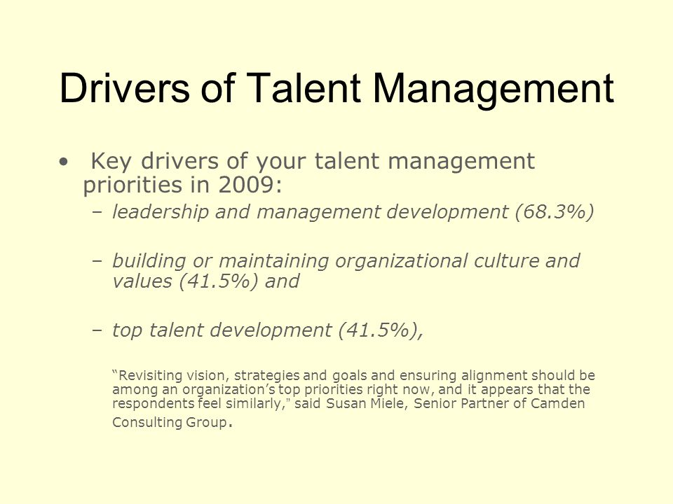 Drivers of Talent Management