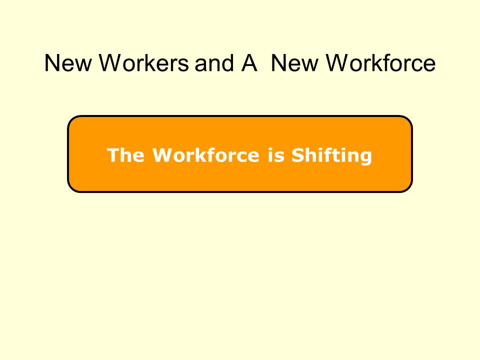 New Workers and A New Workforce
