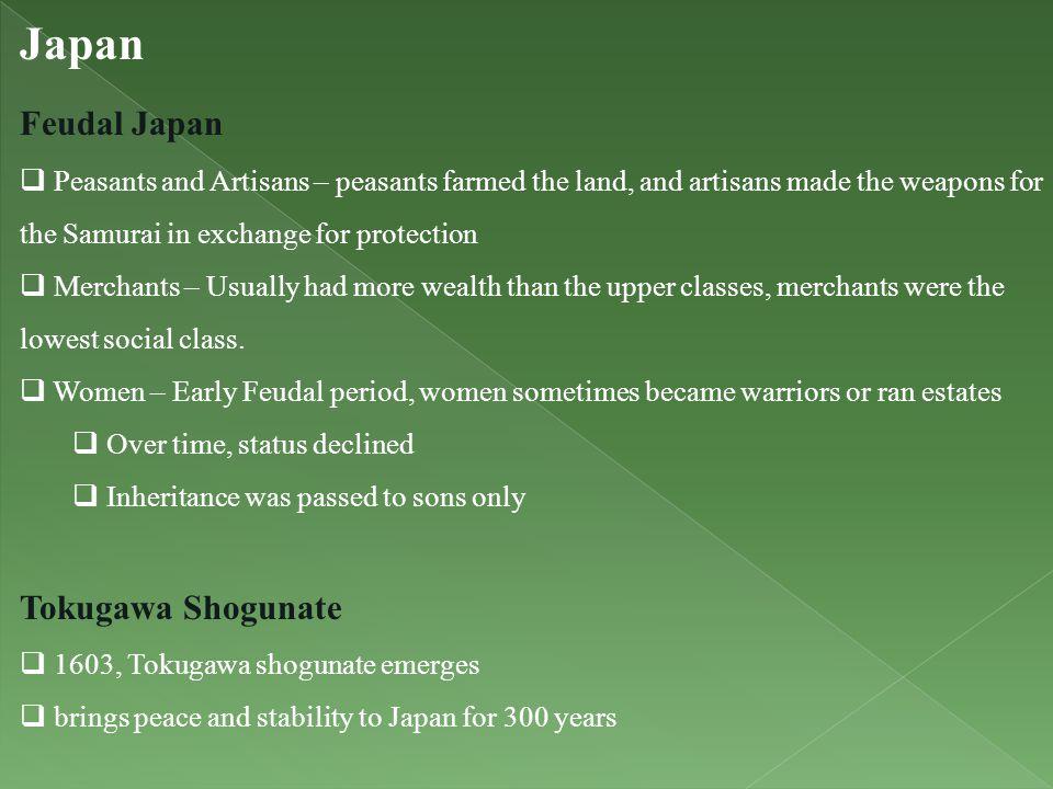 Japan Feudal Japan Tokugawa Shogunate