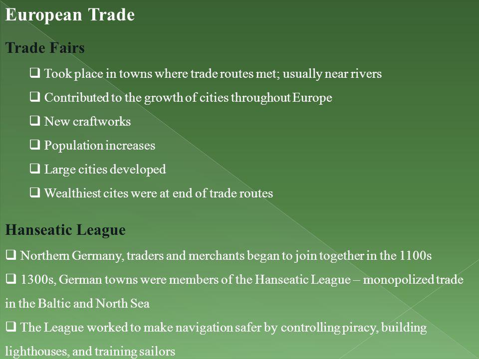 European Trade Trade Fairs Hanseatic League