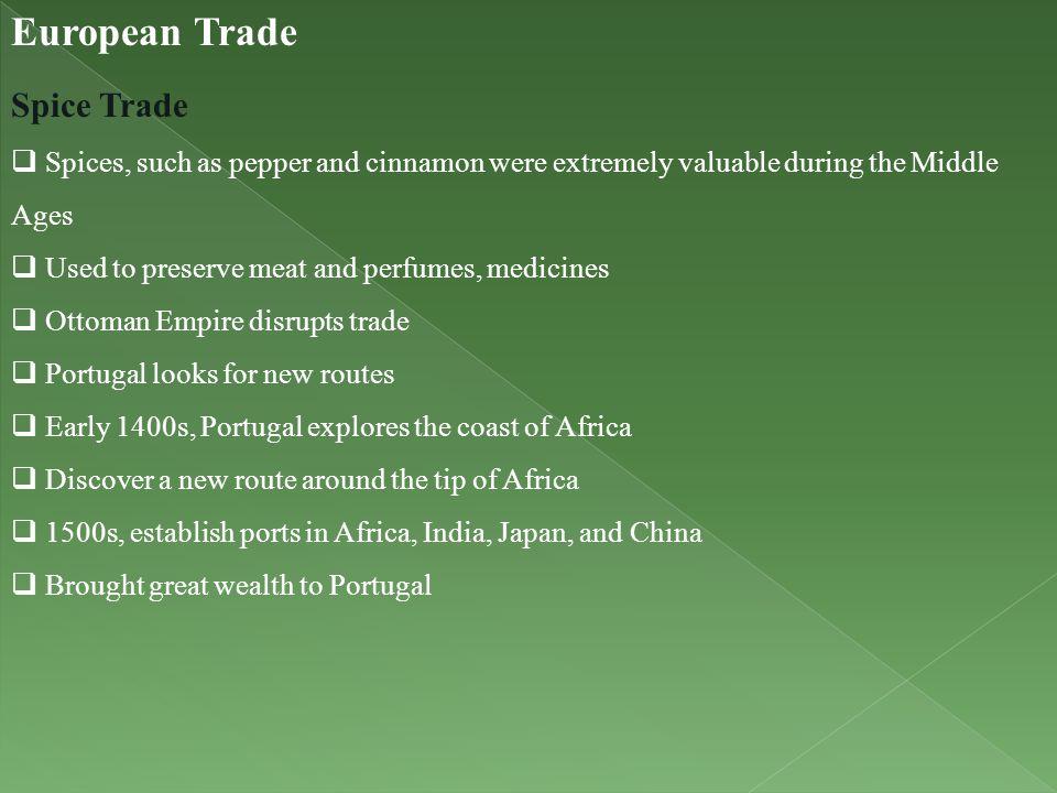 European Trade Spice Trade