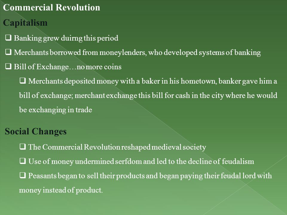 Commercial Revolution Capitalism