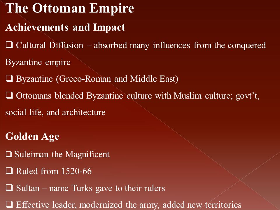 The Ottoman Empire Achievements and Impact Golden Age