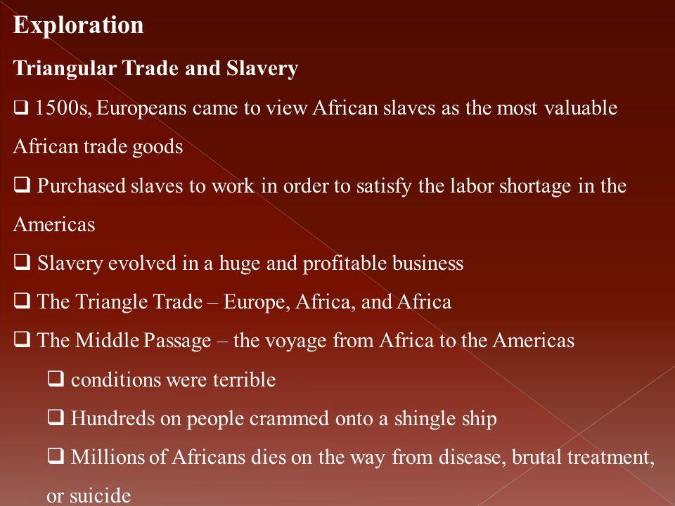 Exploration Triangular Trade and Slavery
