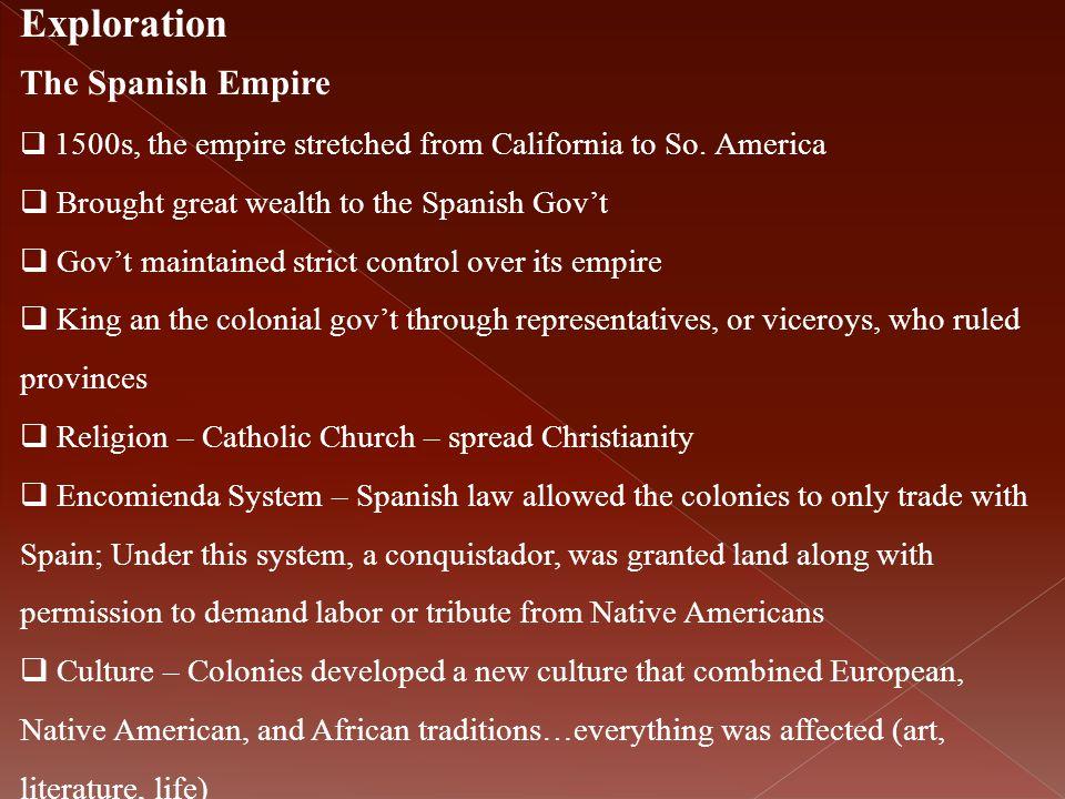 Exploration The Spanish Empire
