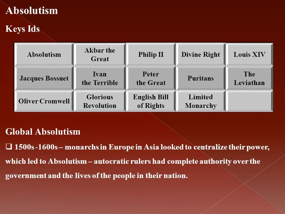 Absolutism Keys Ids Global Absolutism