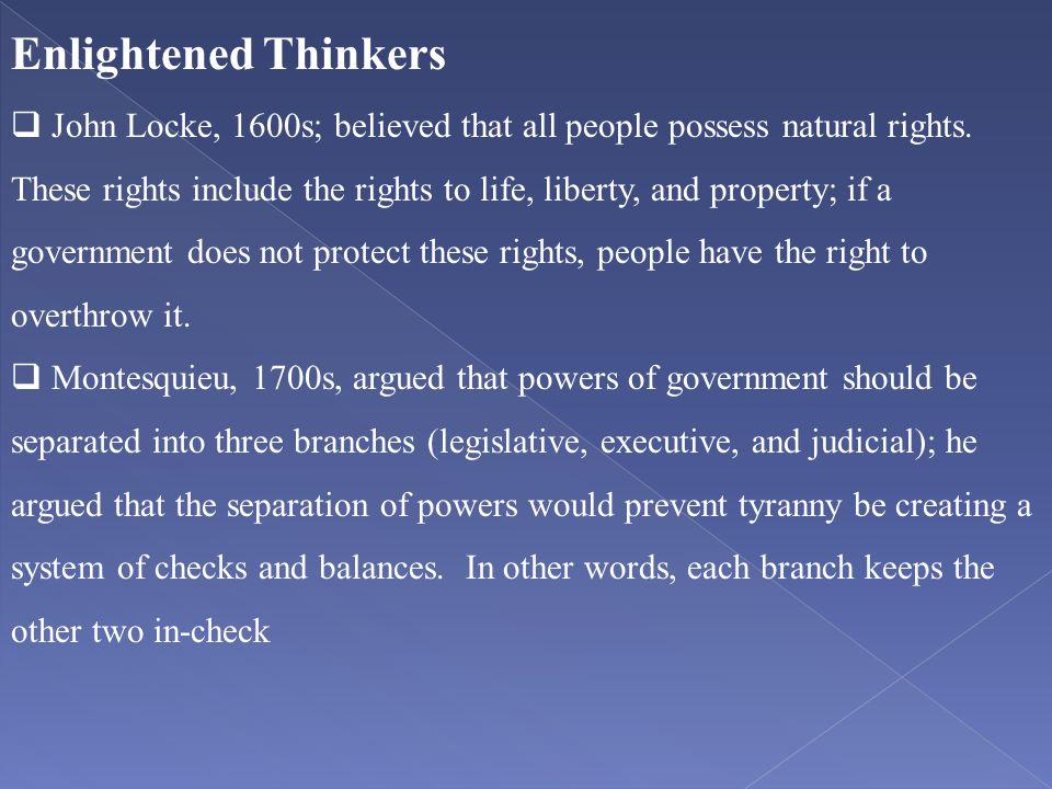 Enlightened Thinkers