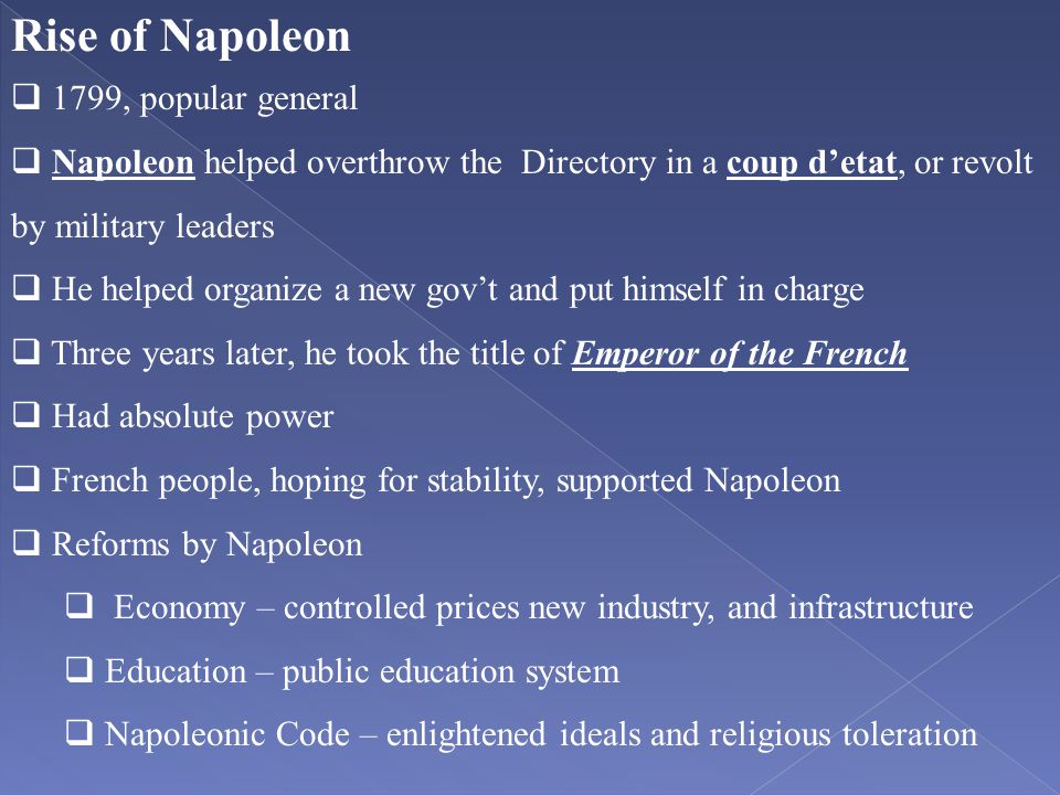 Rise of Napoleon 1799, popular general