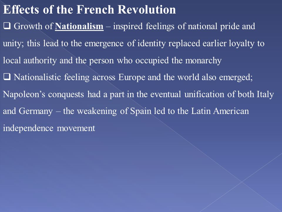 Effects of the French Revolution