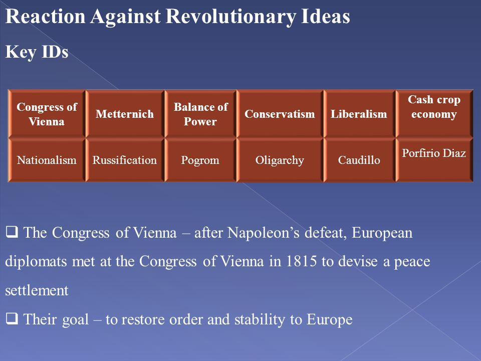 Reaction Against Revolutionary Ideas