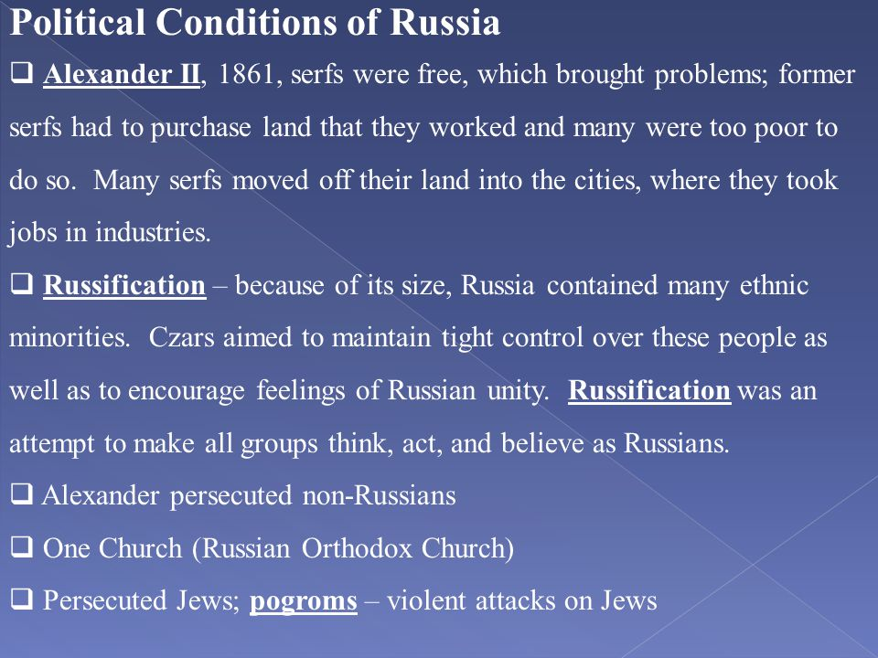 Political Conditions of Russia