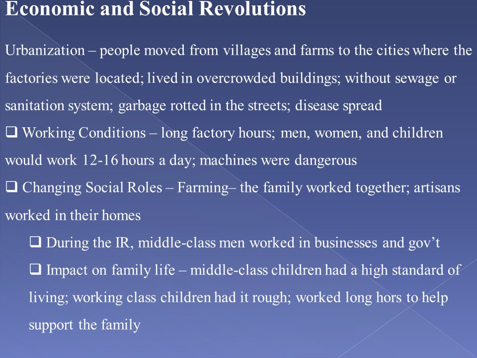 Economic and Social Revolutions