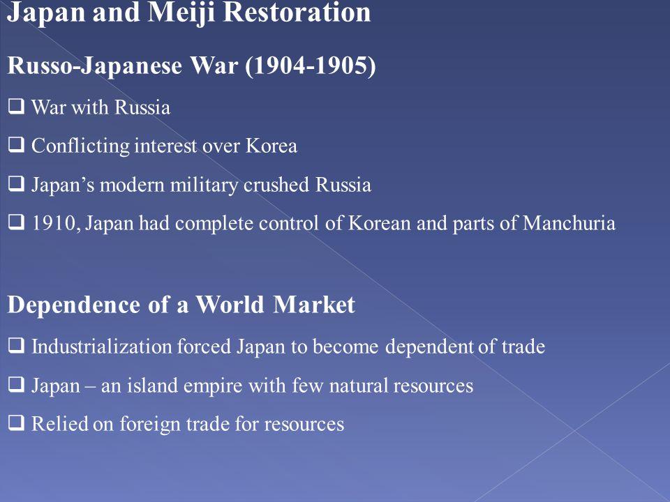 Japan and Meiji Restoration