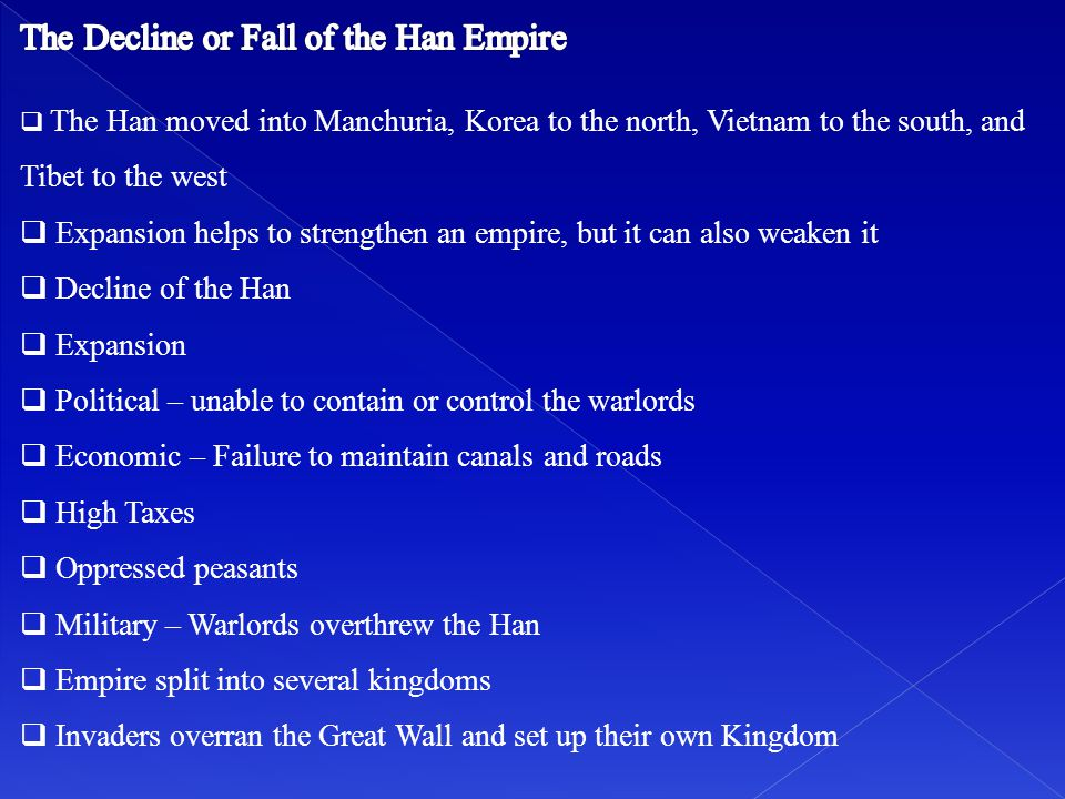 The Decline or Fall of the Han Empire