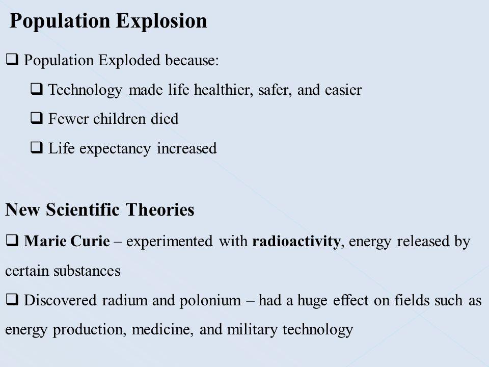 Population Explosion New Scientific Theories