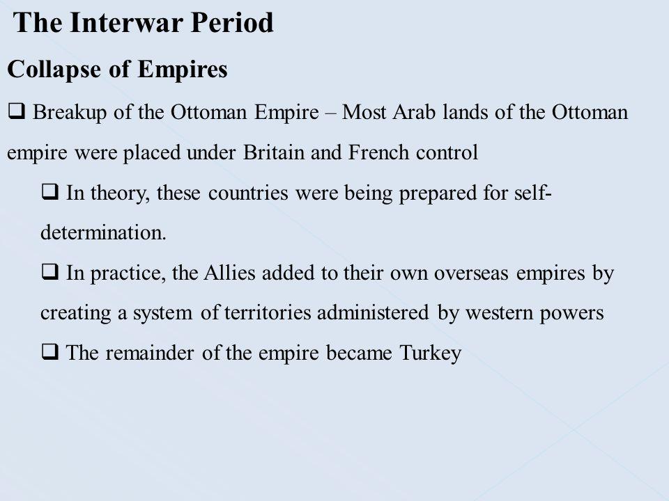 The Interwar Period Collapse of Empires