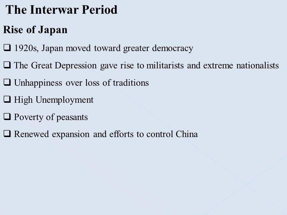 The Interwar Period Rise of Japan