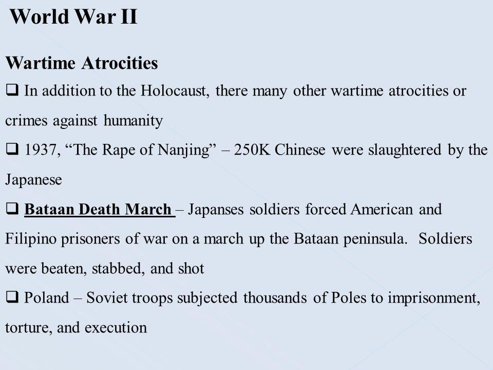 World War II Wartime Atrocities