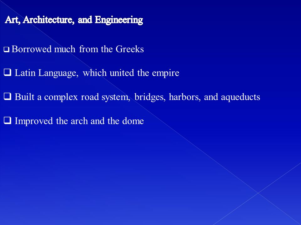 Latin Language, which united the empire