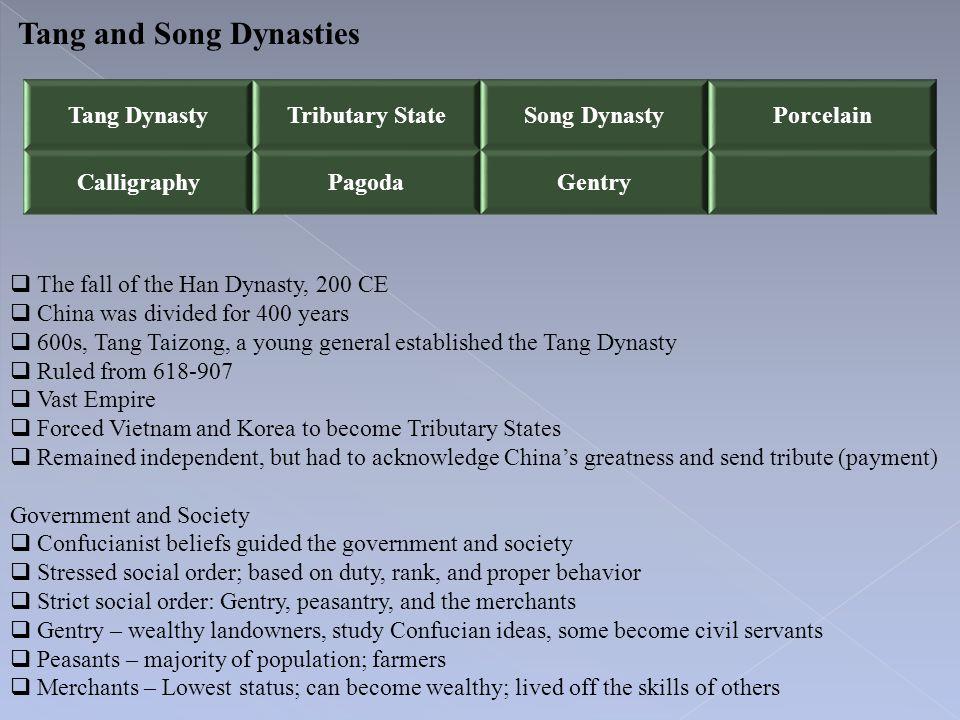 Tang and Song Dynasties