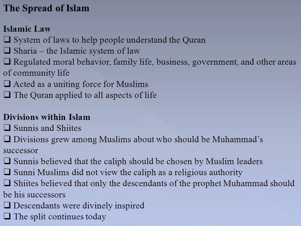 The Spread of Islam Islamic Law