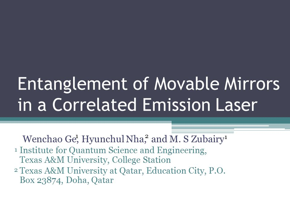 Entanglement of Movable Mirrors in a Correlated Emission Laser