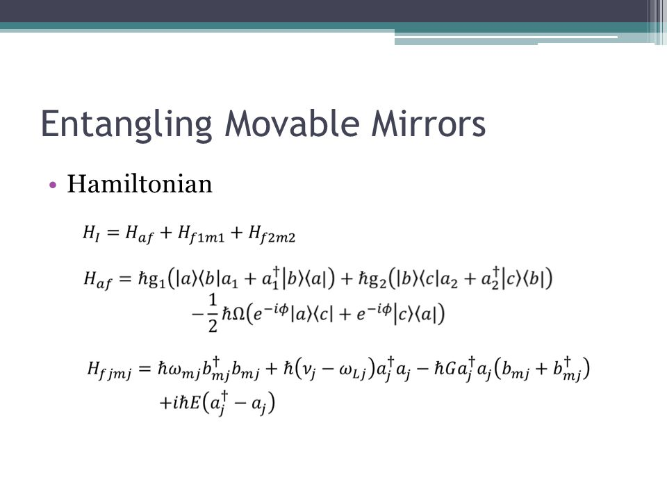 Entangling Movable Mirrors