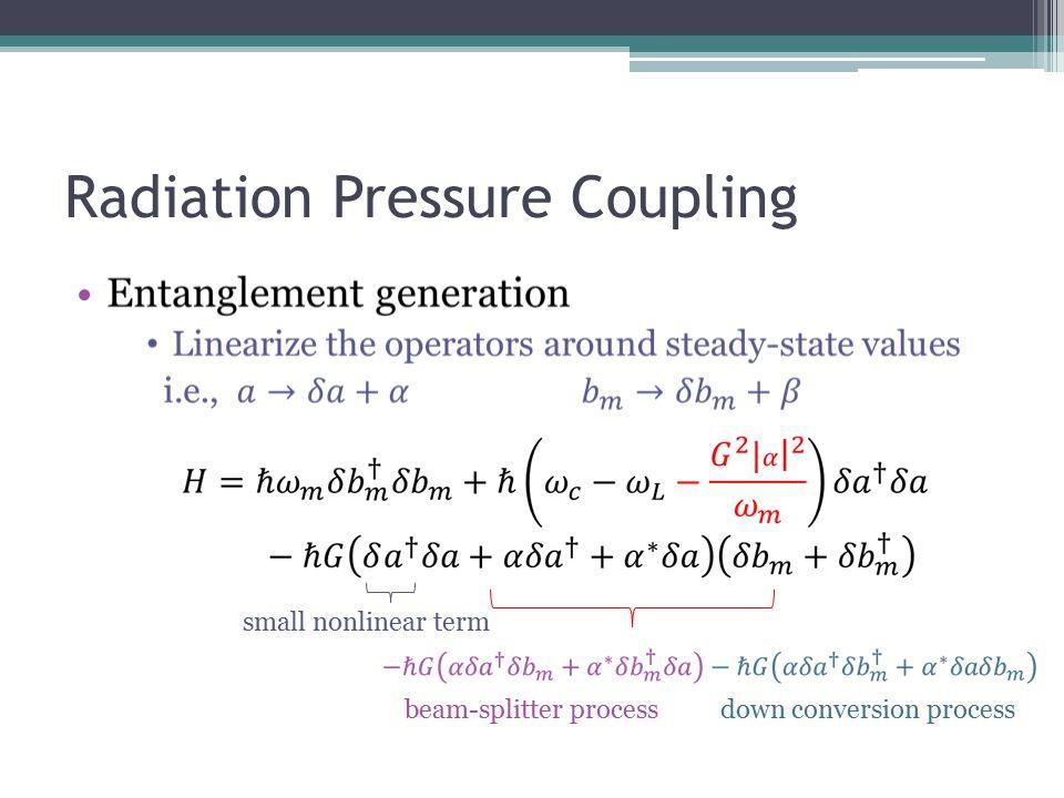 Radiation Pressure Coupling