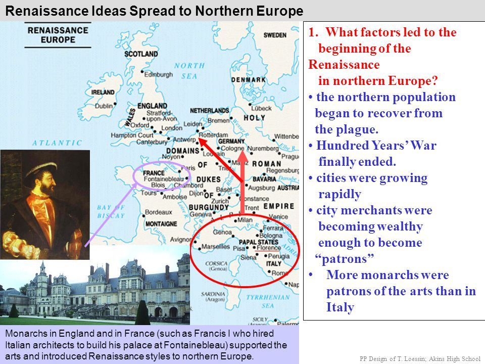 Renaissance Ideas Spread to Northern Europe