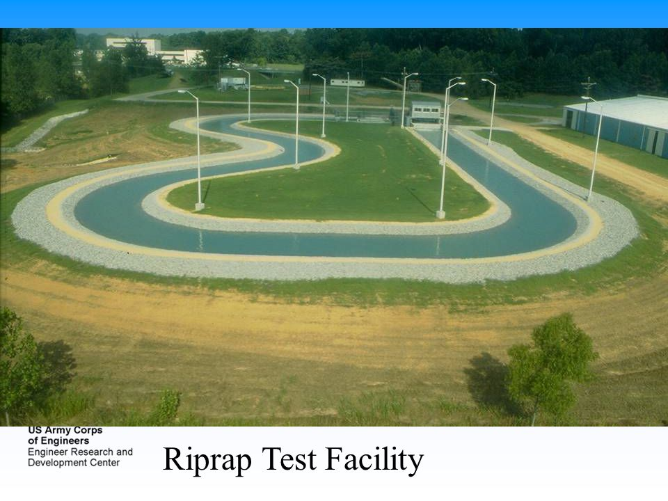 This is a facility we used to have at ERDC in which we tested various launchable riprap sections.