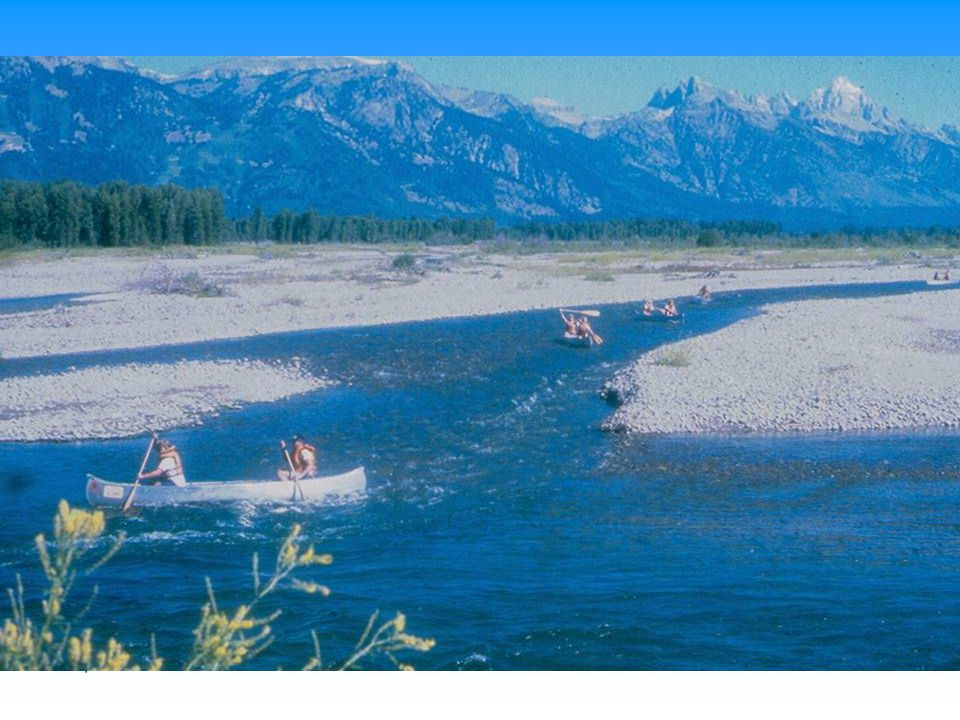 Snake river is a braided channel in some reaches that has severe flow impingement.