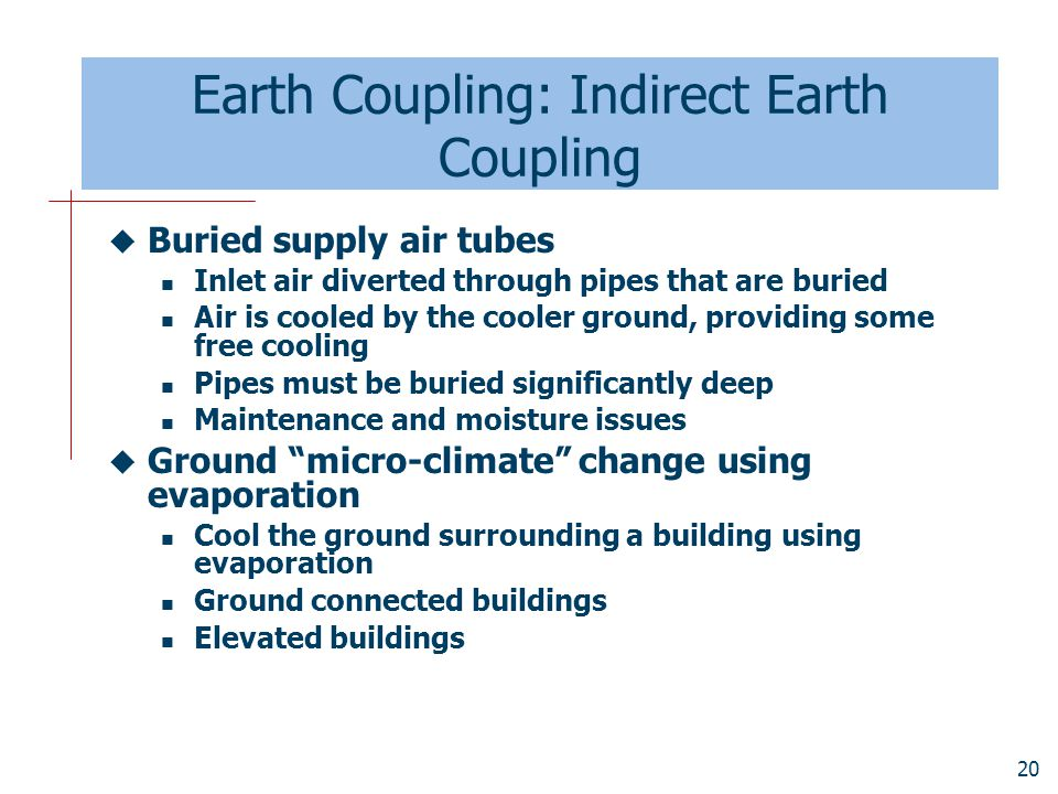 Earth Coupling: Indirect Earth Coupling